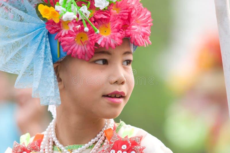 El Poy cantó ceremonia larga en Mae Hong Son, Tailandia imágenes de archivo libres de regalías