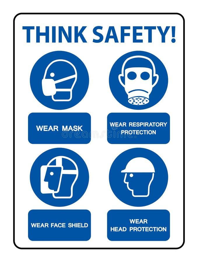 El PPE de la seguridad debe ser aislante llevado de la muestra en el fondo blanco, ejemplo EPS del vector 10 libre illustration