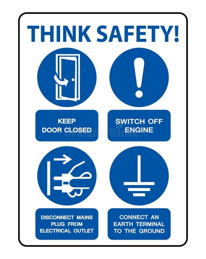 El PPE de la seguridad debe ser aislante llevado de la muestra en el fondo blanco, ejemplo EPS del vector 10 stock de ilustración