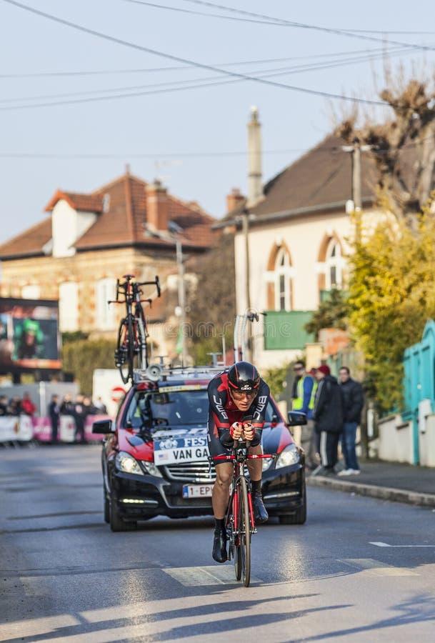 El Prólogo 2013 De Tejay Van Garderen- París Del Ciclista Niza En Houi Imagen de archivo editorial