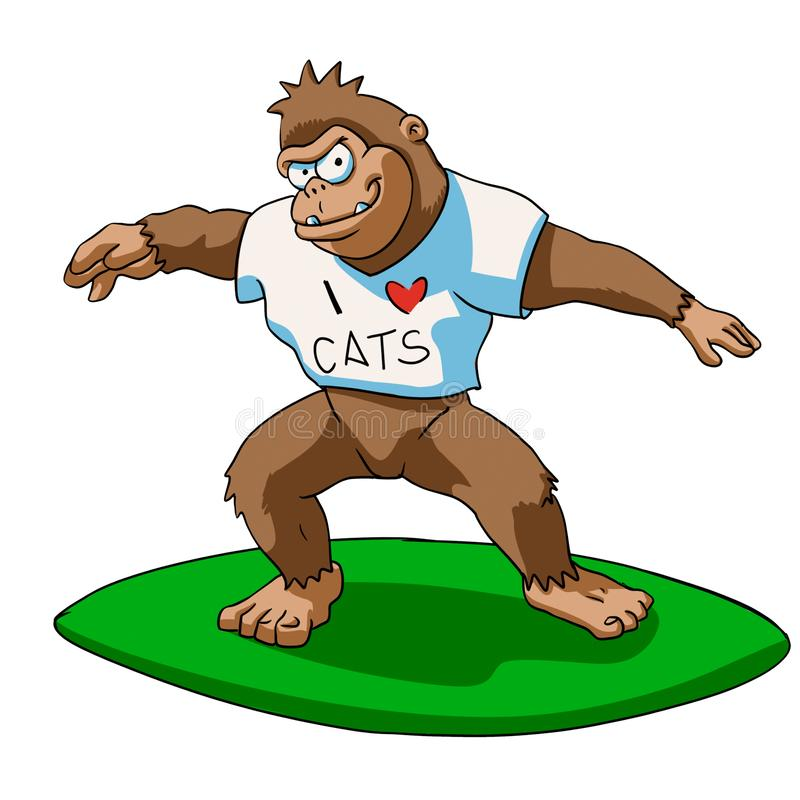 El practicar surf de Bigfoot libre illustration