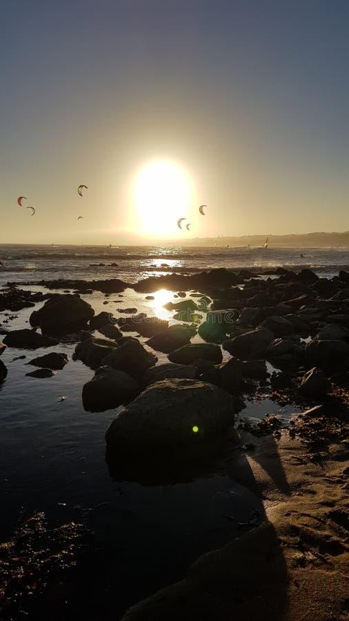 El practicar surf de la cometa fotos de archivo libres de regalías
