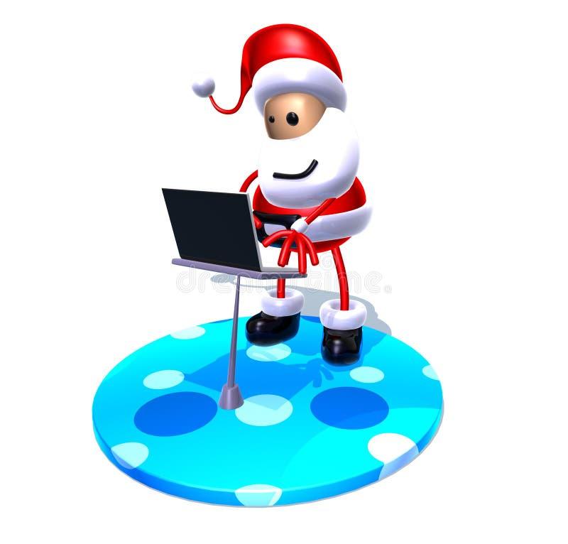 El practicar surf de Papá Noel stock de ilustración