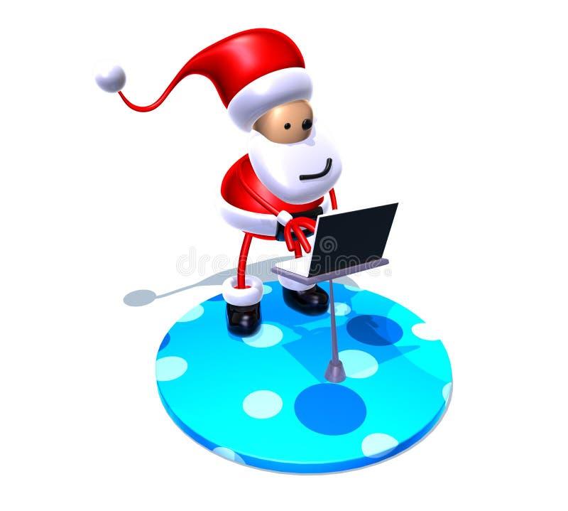 El practicar surf de Papá Noel ilustración del vector