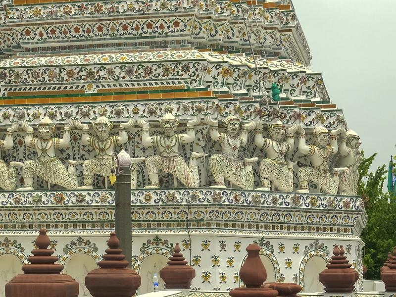 El prang principal del templo del arun del wat, Bangkok fotografía de archivo