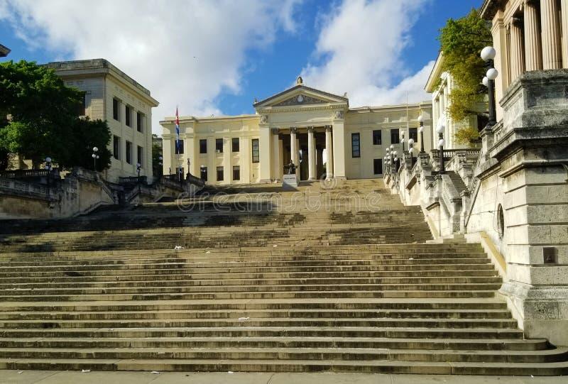 El preguntarse en las calles de La Habana - universidad fotografía de archivo libre de regalías
