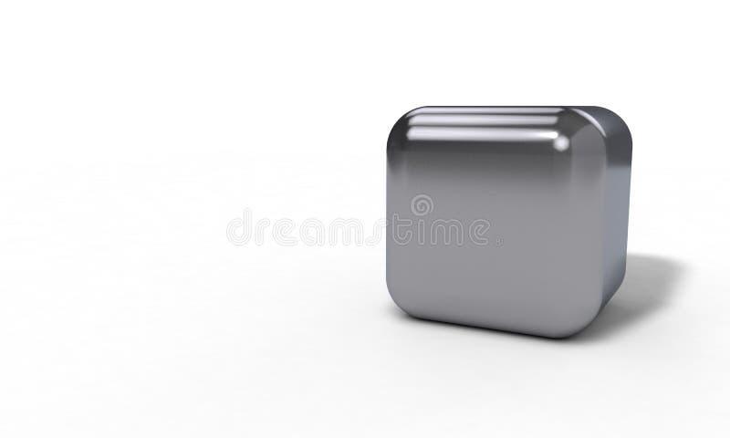 El prendedero del cubo del fondo, 3d rinde stock de ilustración