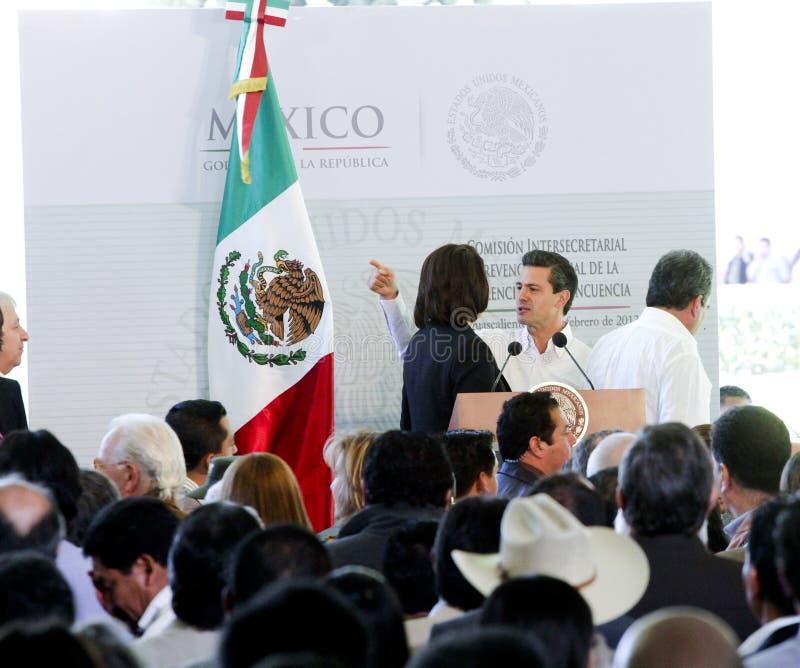 El presidente de México, Enrique Peña Nieto imagen de archivo libre de regalías