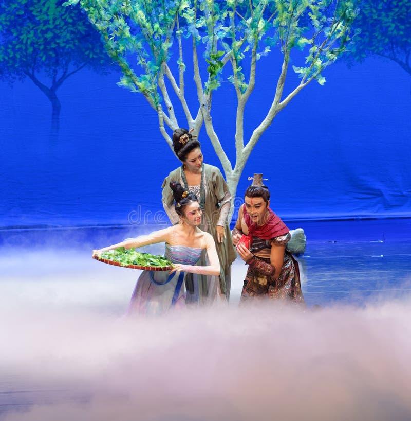 El primer acto: el ` de seda de la princesa de la danza de la mora del ` jardín-épico del drama fotos de archivo libres de regalías