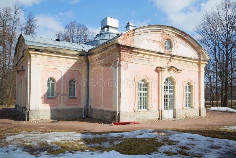 El primer chino de la cocina del pabellón Oranienbaum, región de Leningrad, Rusia imagen de archivo libre de regalías