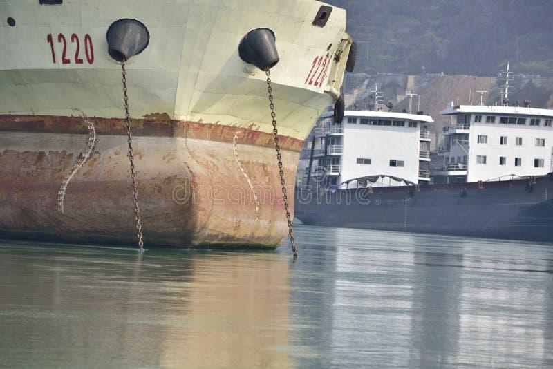 El primer del carguero fotografía de archivo