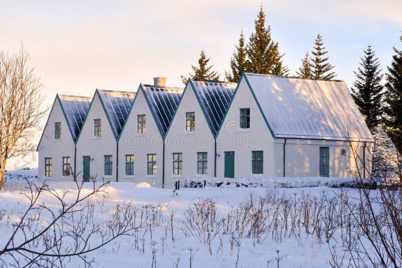 El primer ministro islandés residencia del verano del ` s imagen de archivo