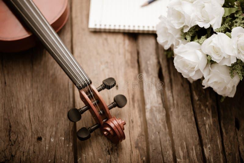 El primer tiró a la orquesta del violín instrumental con tono del vintage procesado sobre la profundidad baja del foco selecto de fotos de archivo libres de regalías