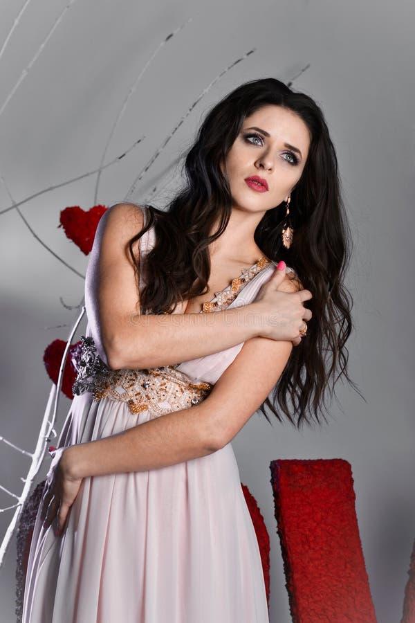 El princesse de la tarjeta del día de San Valentín del St imágenes de archivo libres de regalías