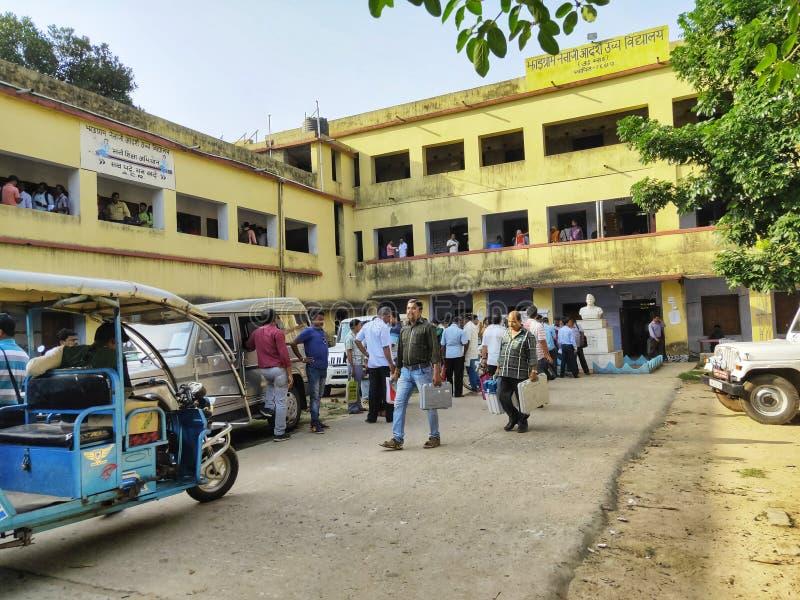 El procedimiento de entrenamiento de los personales de la interrogación para Lok Sabha Election 2019 o la elección 2019 de la Asa fotografía de archivo libre de regalías