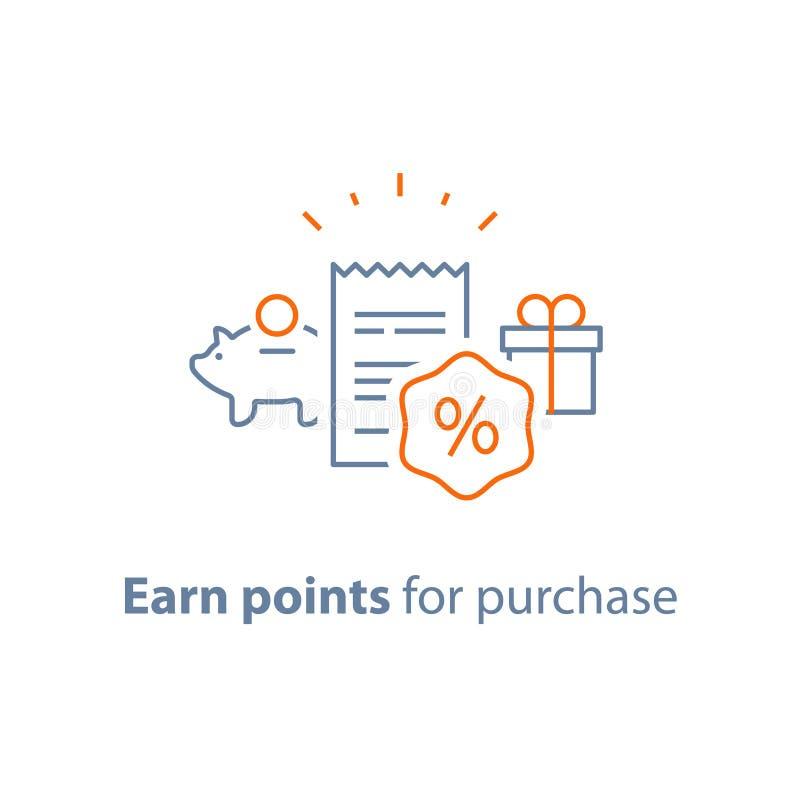 El programa de la lealtad, gana puntos y consigue la recompensa, comercializando concepto libre illustration