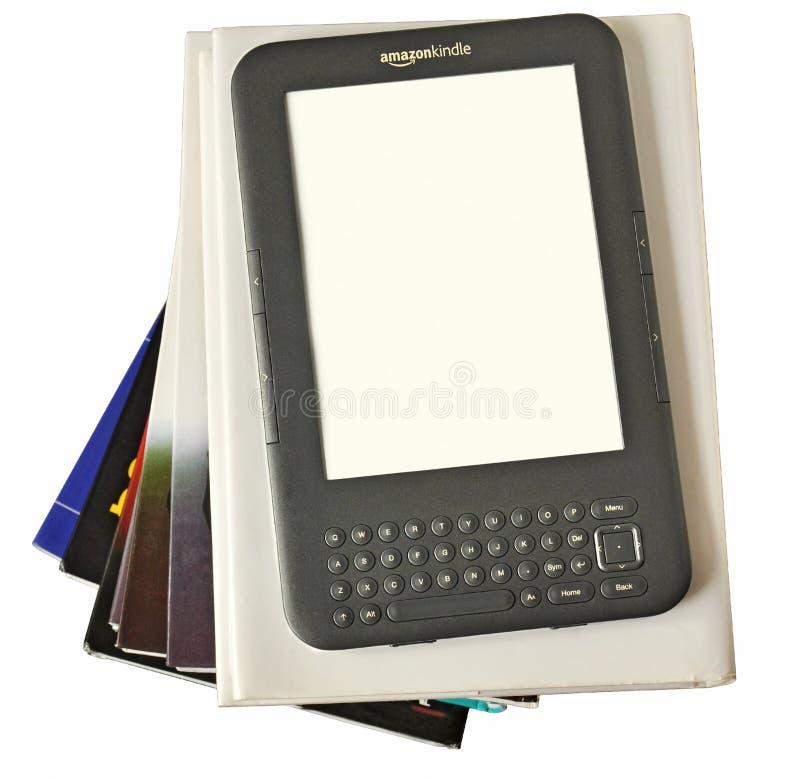 El programa de lectura digital el Amazonas de Ebook enciende imagen de archivo
