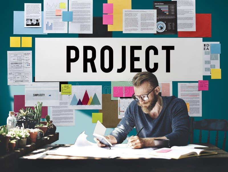 El pronóstico de la estimación del planeamiento de proyecto predice concepto de la tarea foto de archivo libre de regalías