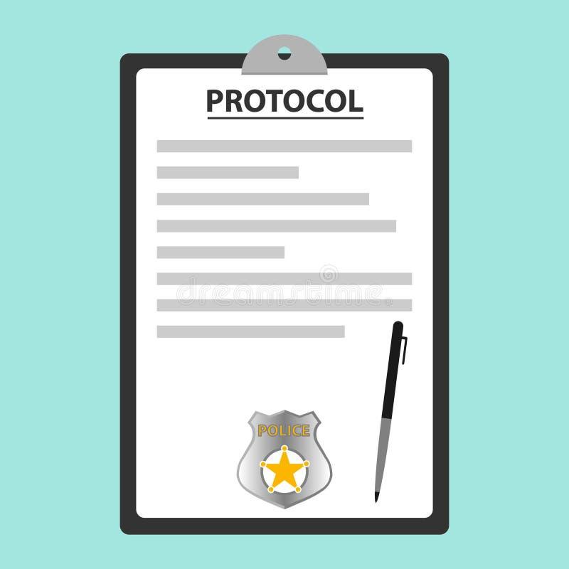 El protocolo de la policía stock de ilustración