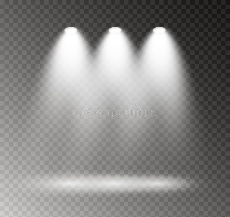 El proyector brilla stock de ilustración