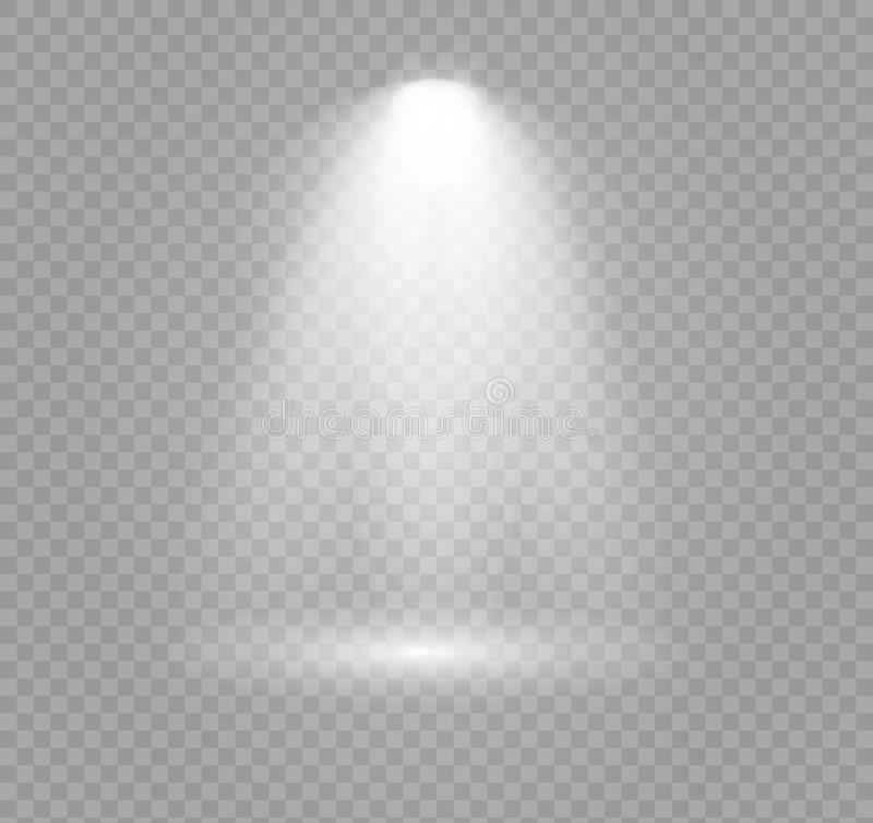 El proyector brilla ilustración del vector