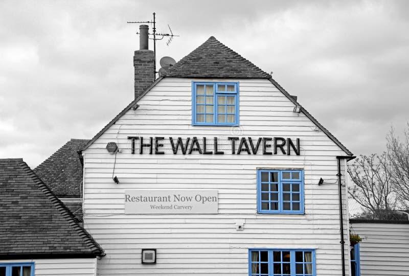 El pub de la taberna de la pared foto de archivo