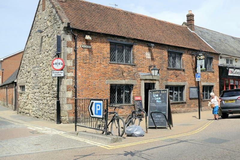 El pub más viejo, Newport, isla del Wight, Reino Unido fotografía de archivo