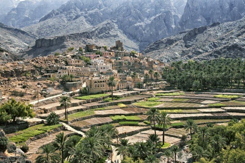 El pueblo Bilad Sayt, sultanato Omán fotografía de archivo