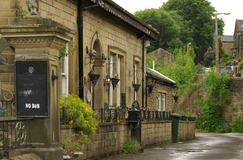 El pueblo de Haworth, hogar de las hermanas de Bronte, Reino Unido imágenes de archivo libres de regalías