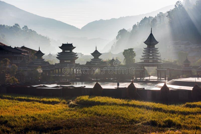 El pueblo del Guizhou fotografía de archivo