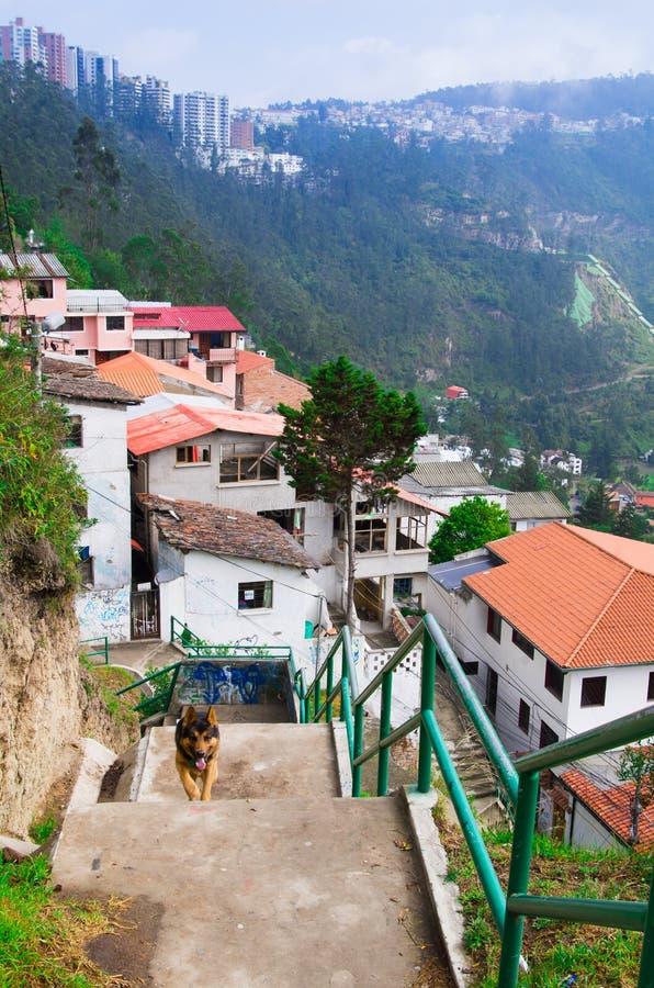 El pueblo encantador de guapolo en quito ecuador con las casas construy el valle hacia abajo - Casas en quito ecuador ...