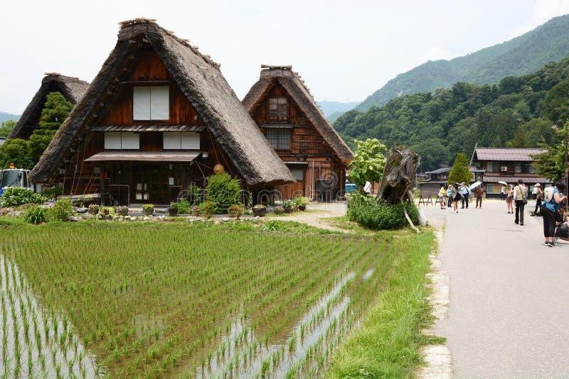El pueblo histórico de Shirakawa-va Prefectura de Gifu Chubu jap?n fotografía de archivo libre de regalías