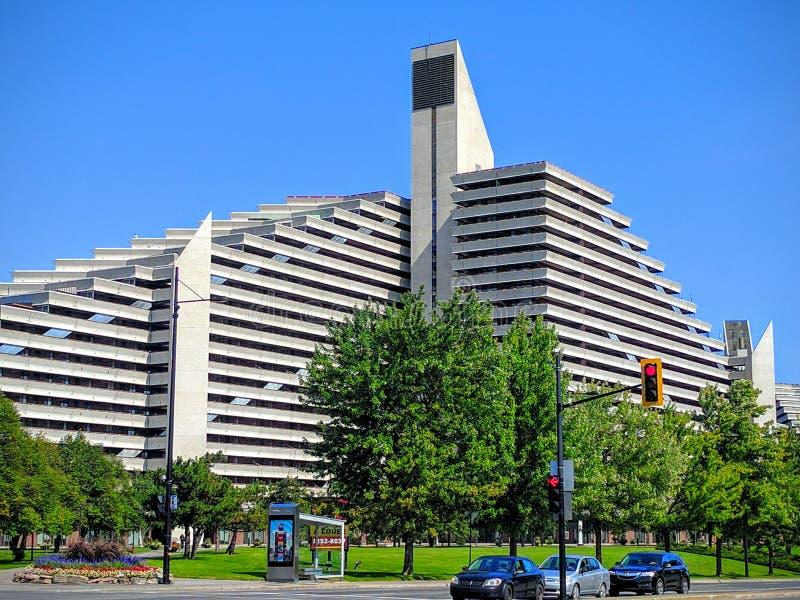 El pueblo olímpico del hotel de Montreal Canadá fotos de archivo libres de regalías
