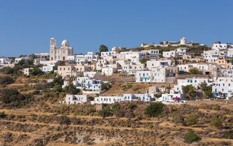 El pueblo pintoresco de Tripiti, Milos isla, Cícladas, Grecia fotografía de archivo libre de regalías