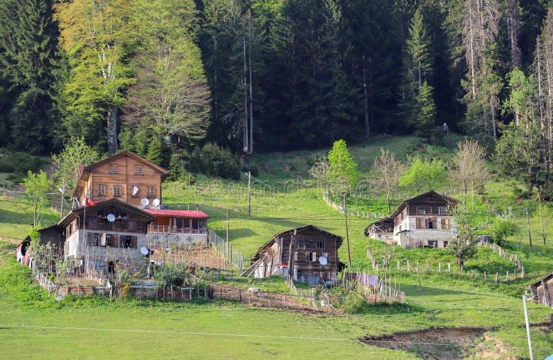 El pueblo tradicional contiene el savsat de Artvin foto de archivo