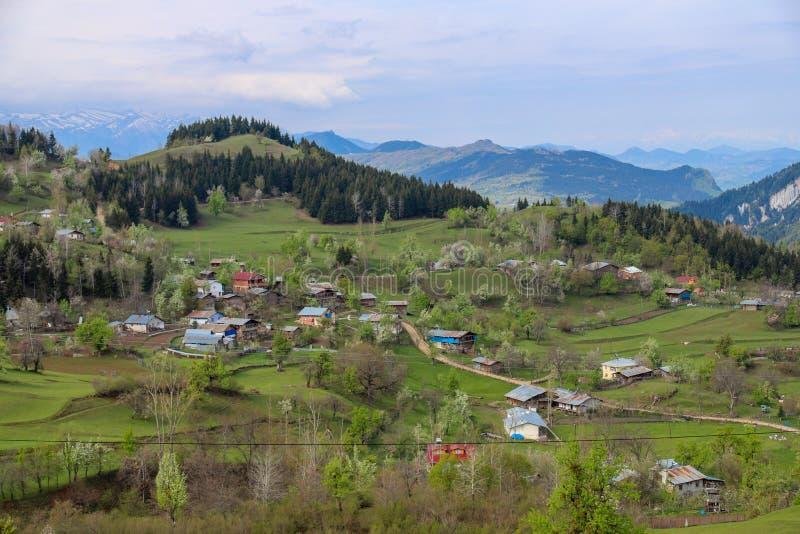 El pueblo tradicional contiene el savsat de Artvin imagen de archivo libre de regalías