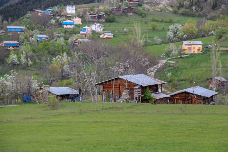 El pueblo tradicional contiene el savsat de Artvin foto de archivo libre de regalías