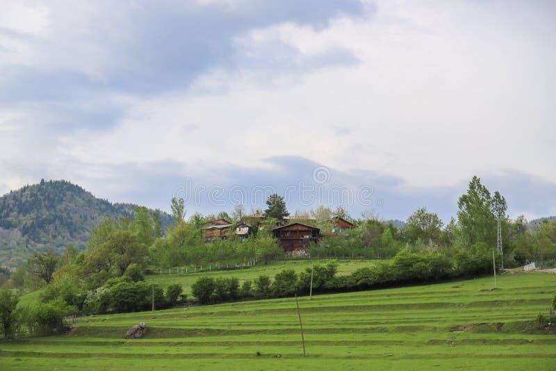 El pueblo tradicional contiene el savsat de Artvin fotos de archivo