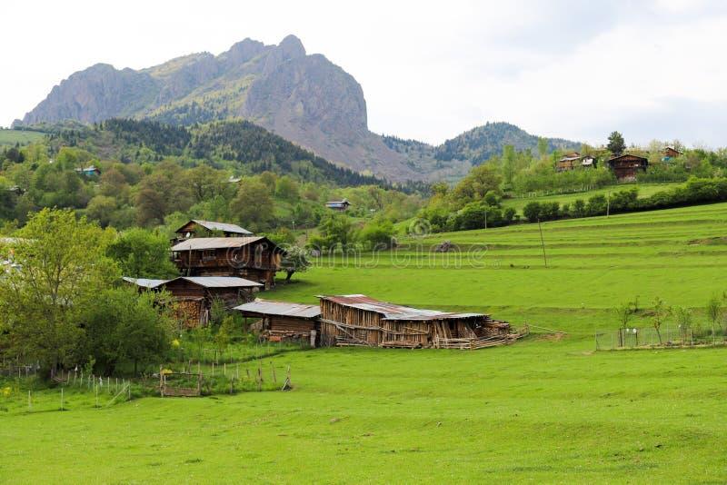 El pueblo tradicional contiene el savsat de Artvin fotografía de archivo libre de regalías