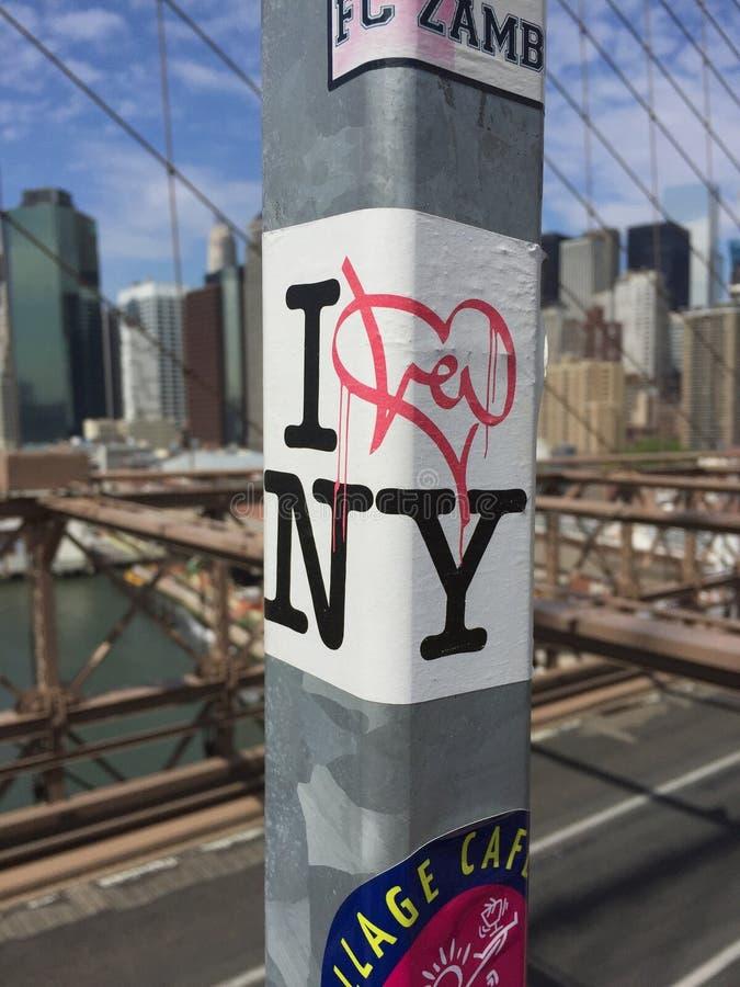 El puente de Brooklyn es siempre una buena idea fotografía de archivo
