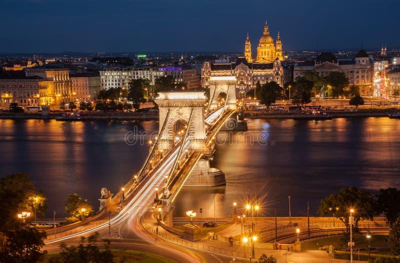 El puente de cadena, Budapest, Hungría fotos de archivo libres de regalías