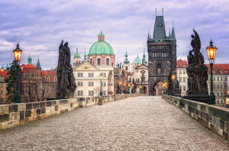 El puente de Charles, Praga, Rep?blica Checa fotografía de archivo libre de regalías