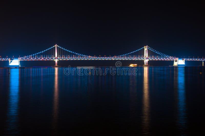 El puente de Gwangan, Busán, Corea del Sur foto de archivo libre de regalías