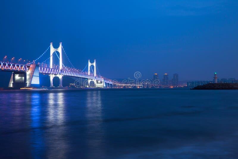El puente de Gwangan, Busán, Corea del Sur fotos de archivo libres de regalías