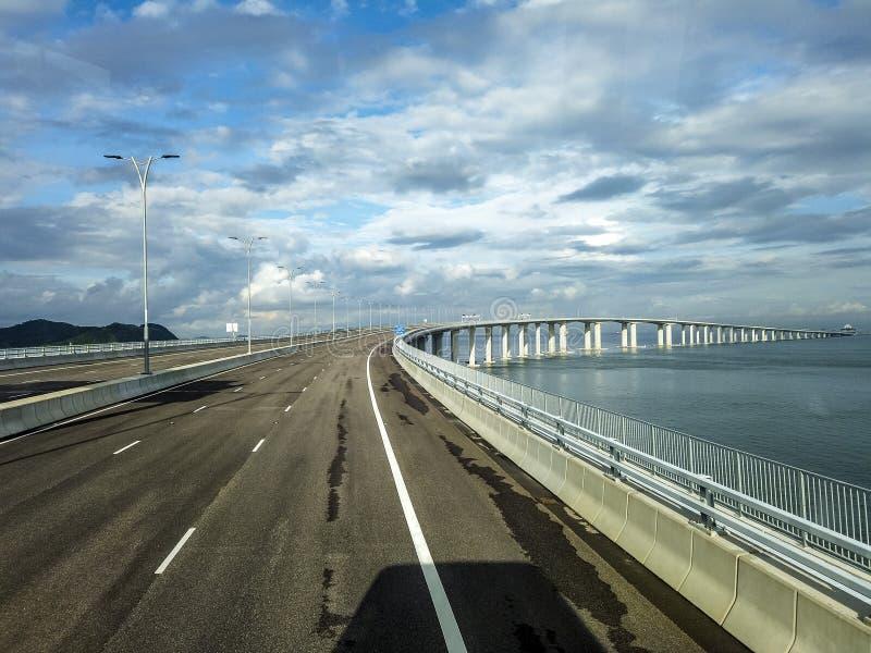 El puente de Hong Kong-Macao-Zhuhai fotos de archivo libres de regalías