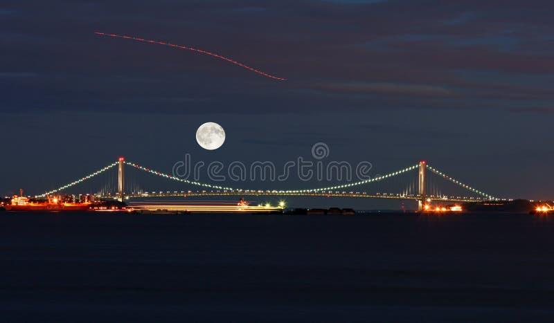 El puente de los estrechos de Verrazano foto de archivo libre de regalías