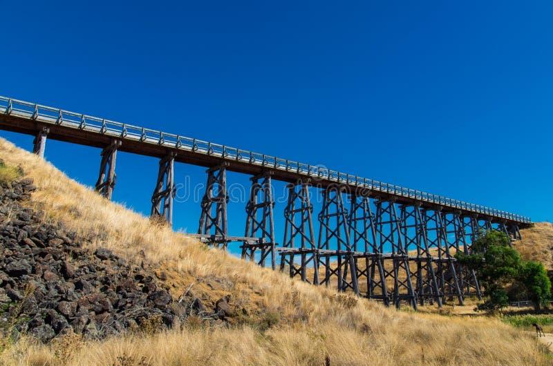 El puente de Nimmon cerca de Ballarat, Australia foto de archivo