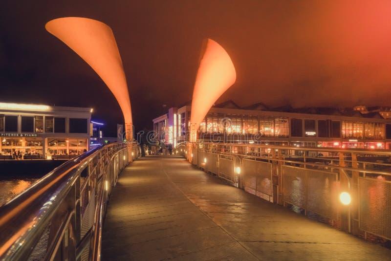 El puente de Pero en la noche imágenes de archivo libres de regalías