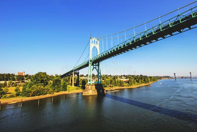 El puente de Portland fotografía de archivo