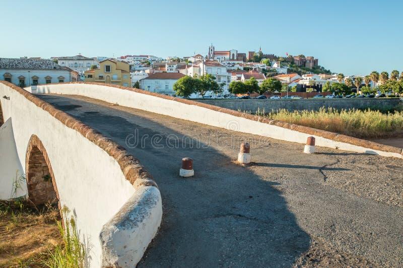 El puente de Roma en Silves, Portugal fotos de archivo libres de regalías